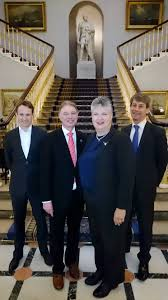Pictured, left to right, at the headquarters of the Institute of Directors are: Orchestr8 owner Philip Ribbins, SCALA Managing Director John Perry, Demand Driven Institute partner Carol Ptak and SCALA senior consultant Simon Eagle.